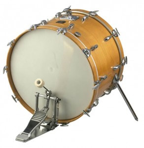 Picture of Bass Drum With Pedal Attached