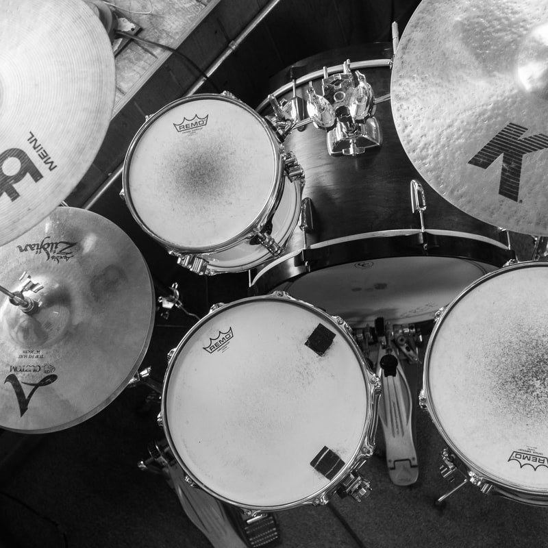 Picture of a Drum Set in our Lessons Studio