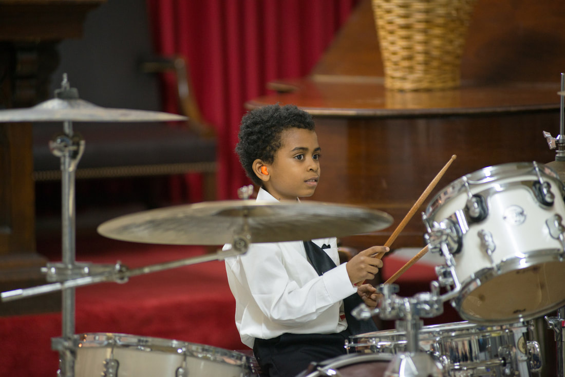 Picture of Our Student Playing Drums